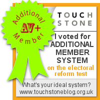 Additional Member System - I voted at the Electoral Reform Test