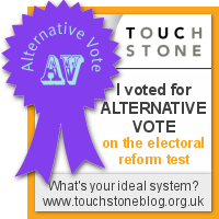Alternative Vote - I voted at the Electoral Reform Test