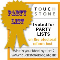 Party List - I voted at the Electoral Reform Test