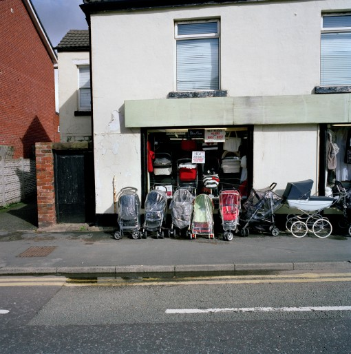 Photo of prams outside a shop