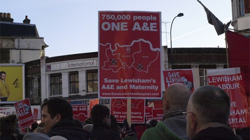 Save Lewisham A&E demonstration. Photo: http://www.flickr.com/people/anngav/Ann Gav
