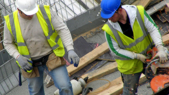 Photo of two construction workers. Copyright JimmyMac210, Flickr