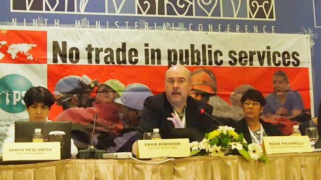 No trade in public services