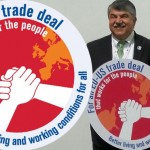 AFLCIO President Richard Trumka with ETUC General Secretary Bernadette Segol.