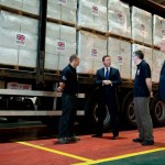 David Cameron - overseas aid distribution centre