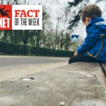 Photo of a child sat on a bench, looking down, with the Saving Our Safety Net logo and text that says: Fact of the week.