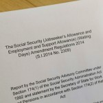 Social Services Advisory Committee report