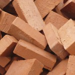a pile of bricks