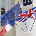 UK, French and EU flags