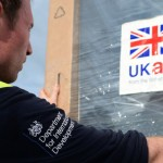 UK Aid delivery being unpacked to build a hospital for Ebola patients in Sierra Leone