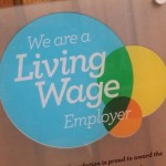 Living Wage Employer plaque