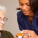 Home care worker with service user