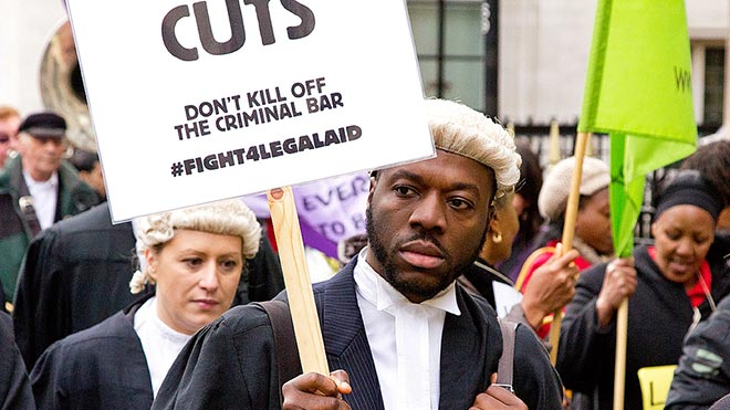 Fight For Legal Aid protest