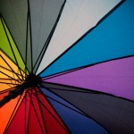 LGBT flag umbrella