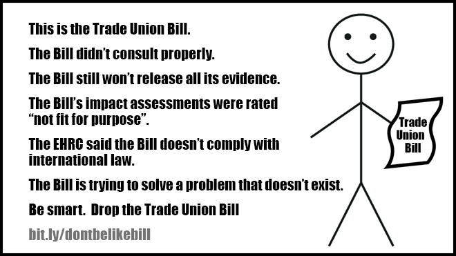 Be smart. Don't be like the Trade Union Bill
