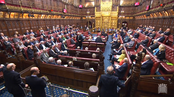Peers debate the trade union bill