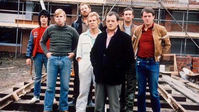 The cast of the ITV show Auf Wiedersehen, Pet