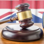 gavel and union flag