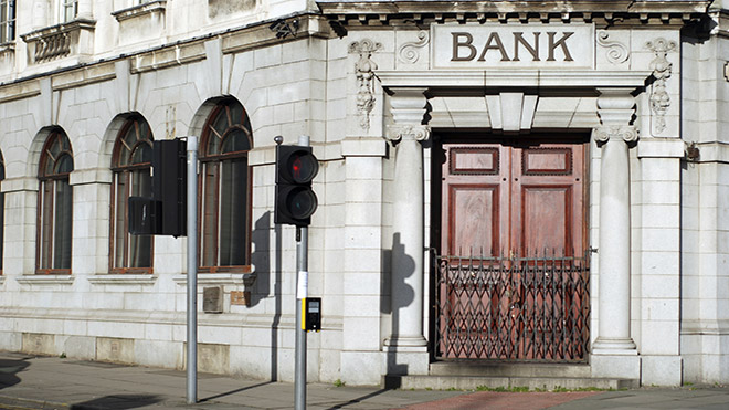 closed bank branch