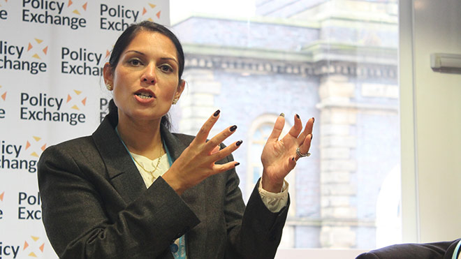 Priti Patel. Photo: Policy Exchange