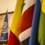 The ILO flag stands aloof from national flags