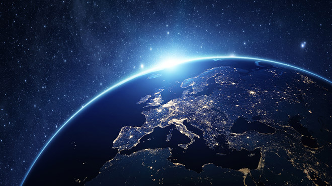 Europe viewed from space