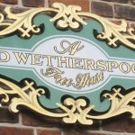 Wetherspoon pub sign