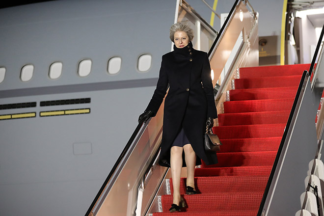 Theresa May visits America to meet with President Trump (Photo by Christopher Furlong/Getty Images)