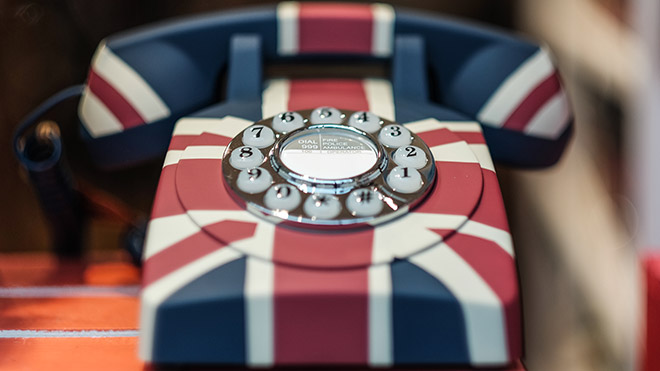 Retro UK phone