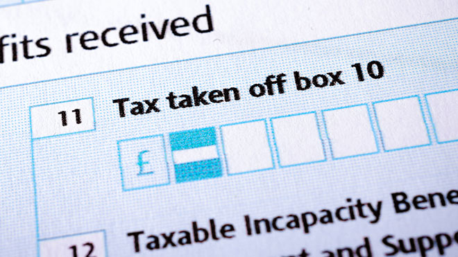 Benefits section of UK tax return