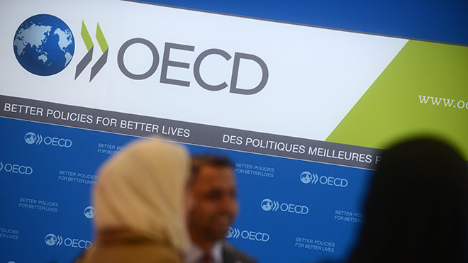Guests at an OECD conference