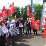 Visiting Redcar with the TUC's 'Britain Still Needs A Pay Rise' campaign.